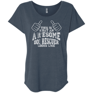 Awesome Dog Rescuer - Slouchy Tee Rescuers Club