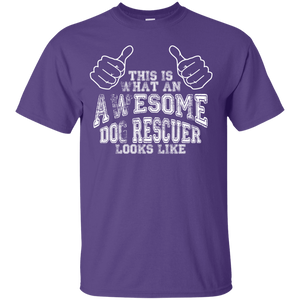 Awesome Dog Rescuer - T Shirt Rescuers Club