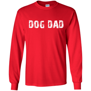 Bad*ss Dog Dad Rescuer - Long Sleeve T Shirt Rescuers Club