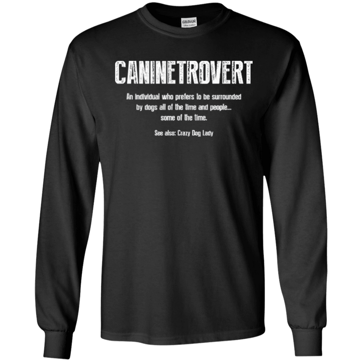 Caninetrovert - Long Sleeve T Shirt Rescuers Club