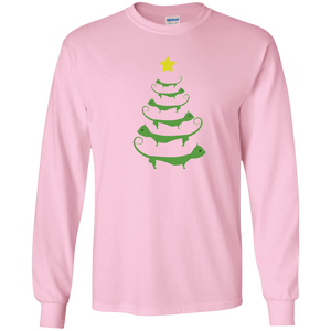 Cat Christmas Tree - Long Sleeve T Shirt Rescuers Club