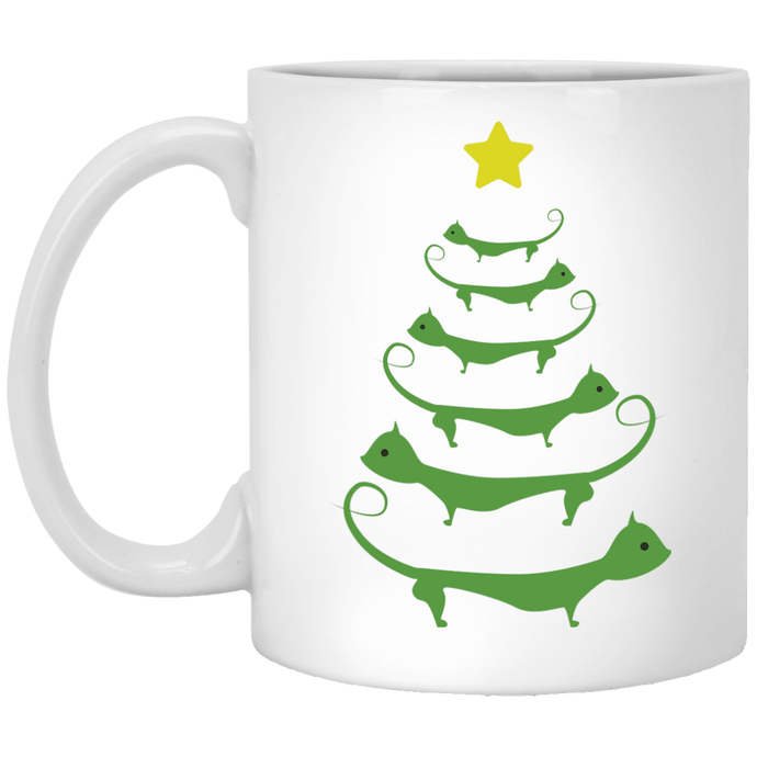 Cat Christmas Tree - Mugs Rescuers Club