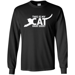 Cat Hair Shirt - Long Sleeve T Shirt Rescuers Club