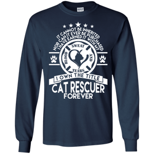 Cat Rescuer Forever - Long Sleeve T Shirt, Long Sleeve - Rescuers Club
