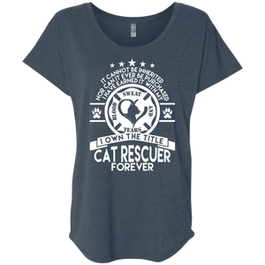 Cat Rescuer Forever - Slouchy Tee Rescuers Club