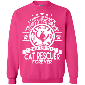 Cat Rescuer Forever - Sweatshirt Rescuers Club