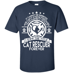 Cat Rescuer Forever - T Shirt Rescuers Club