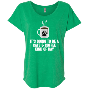 Cats And Coffee - Slouchy Tee Rescuers Club