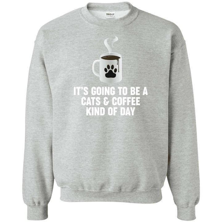 Cats And Coffee - Sweatshirt Rescuers Club