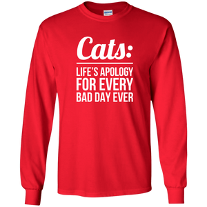 Cats Life's Apology - Long Sleeve T Shirt Rescuers Club