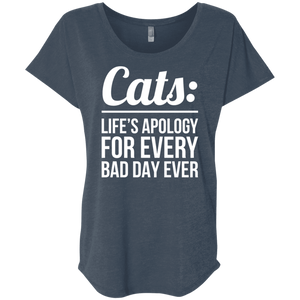 Cats Life's Apology - Slouchy Tee Rescuers Club