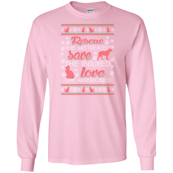 Christmas Rescue Save Love - Long Sleeve T Shirt Rescuers Club