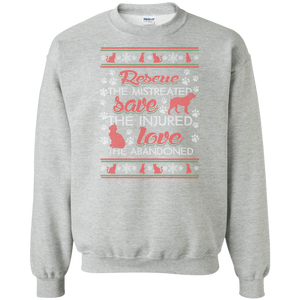 Christmas Rescue Save Love  - Sweatshirt Rescuers Club