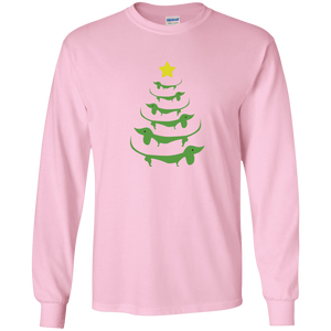 Dog Christmas Tree - Long Sleeve T Shirt Rescuers Club