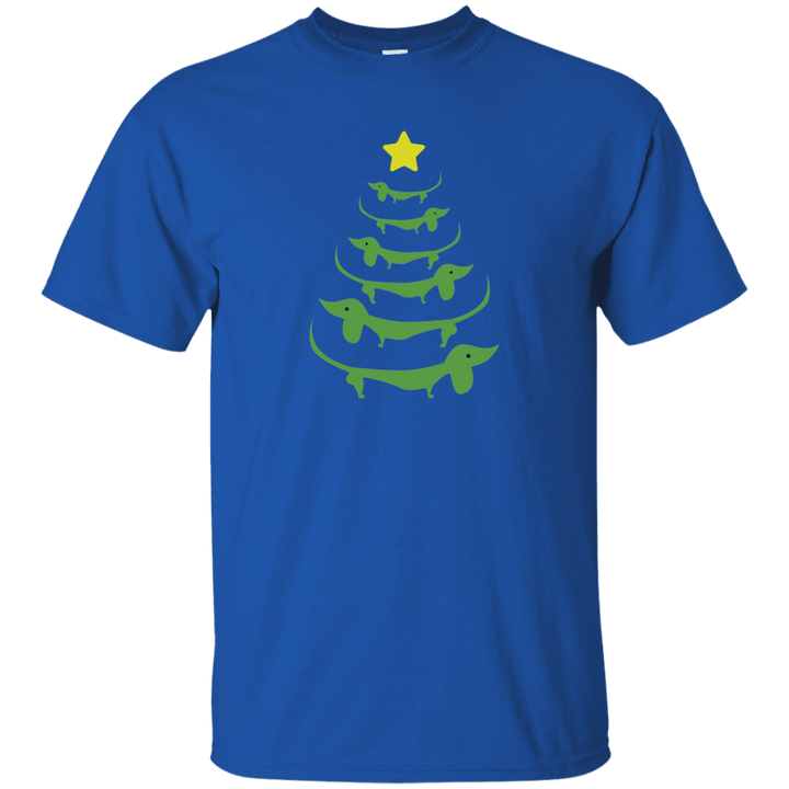 Dog Christmas Tree- T Shirt Rescuers Club
