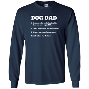 Dog Dad Definition - Long Sleeve T Shirt Rescuers Club