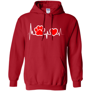 Dog Heartbeat - Hoodie Rescuers Club