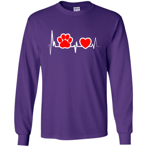Dog Heartbeat - Long Sleeve T Shirt Rescuers Club