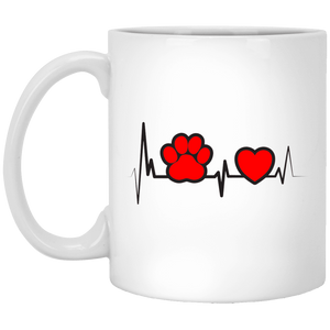 Dog Heartbeat - Mugs Rescuers Club