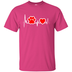 Dog Heartbeat - T Shirt Rescuers Club