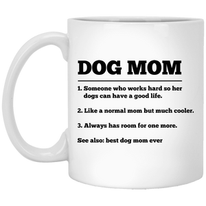 Dog Mom Definition - Mugs Rescuers Club