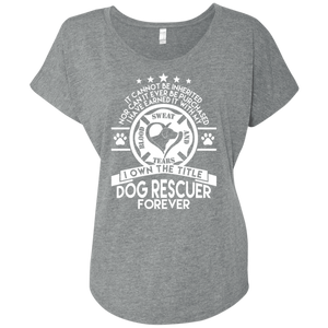 Dog Rescuer Forever - Slouchy Tee Rescuers Club