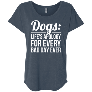 Dogs Life's Apology - Slouchy Tee Rescuers Club