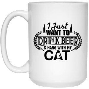 Drink Beer Hang With My Cat - Mugs Rescuers Club