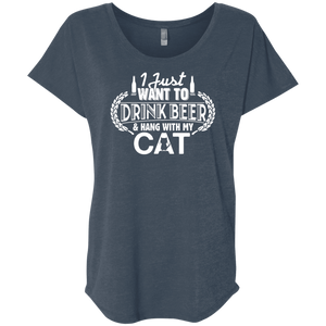 Drink Beer Hang With My Cat - Slouchy Tee Rescuers Club