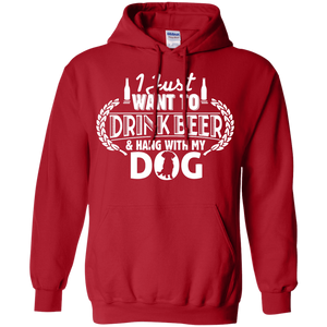 Drink Beer Hang With My Dog - Hoodie Rescuers Club