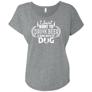 Drink Beer Hang With My Dog - Slouchy Tee Rescuers Club