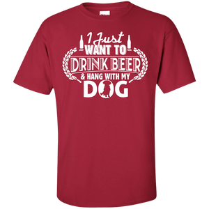 Drink Beer Hang With My Dog - T Shirt Rescuers Club