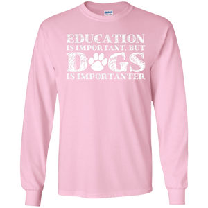 Education Is Important - Long Sleeve T Shirt Rescuers Club