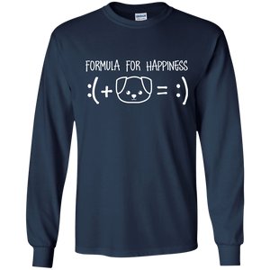 Formula For Happiness - Long Sleeve T Shirt Rescuers Club