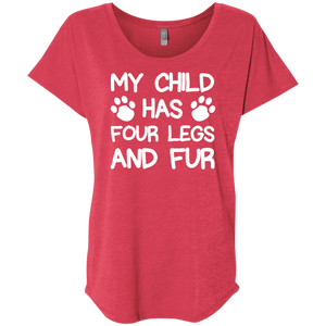 Four Legs And Fur - Slouchy Tee Rescuers Club