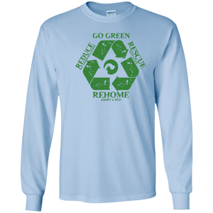 Go Green - Long Sleeve T Shirt Rescuers Club