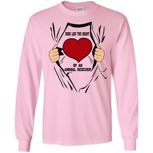 Here Lies The Heart - Long Sleeve T Shirt Rescuers Club