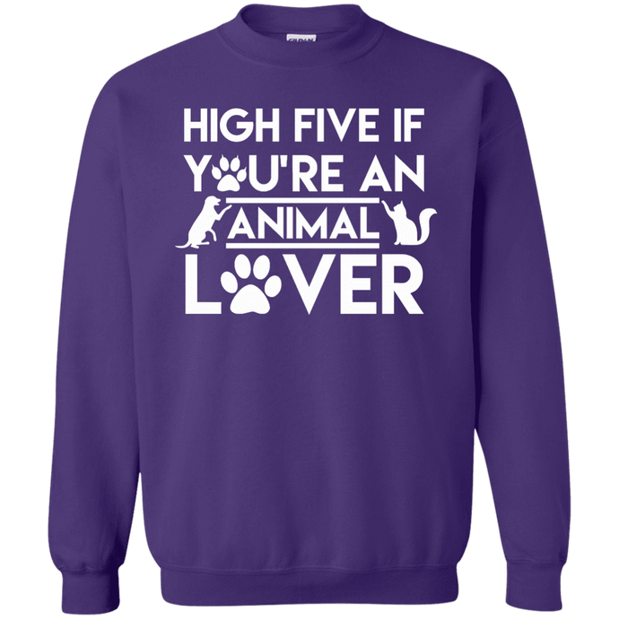 High Five If You're An Animal Lover - Sweatshirt Rescuers Club