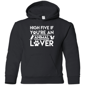 High Five If You're An Animal Lover - Youth Hoodie Rescuers Club