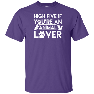 High Five If You're An Animal Lover - Youth T Shirt Rescuers Club