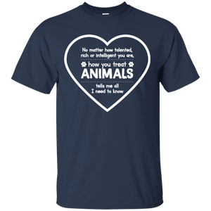How You Treat Animals - T Shirt Rescuers Club