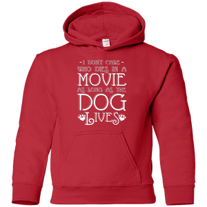 I Don't Care Who Dies In A Movie - Youth Hoodie Rescuers Club