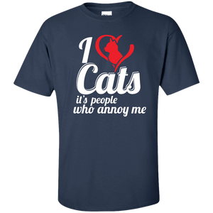 I Love Cats - T Shirt Rescuers Club