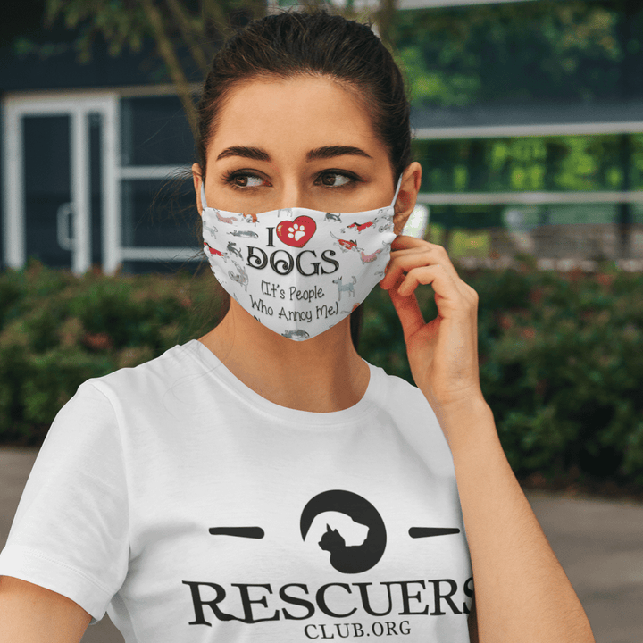 I Love Dogs - Face mask Rescuers Club