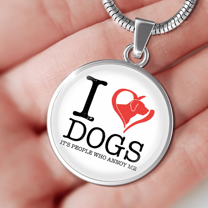 I Love Dogs - Pendant Rescuers Club