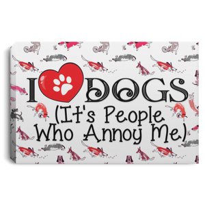 I Love Dogs - Wall Canvas Rescuers Club