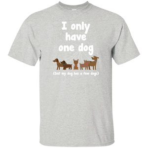 I Only Have 1 Dog - Youth T Shirt Rescuers Club