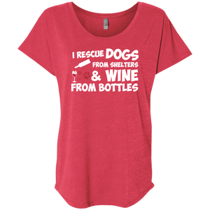 I Rescue Dogs And Wine - Slouchy Tee Rescuers Club