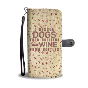 I Rescue Dogs From Shelters - Wallet Phone Case Rescuers Club