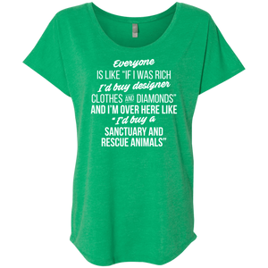If I Was Rich - Slouchy Tee Rescuers Club